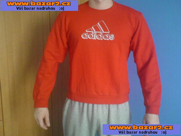 Pánská mikina Adidas červená vel. M 00765fa5423