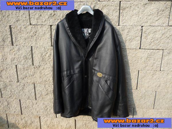 84f24d57a Italský koženkový kabát pánský vel. XL na postavu 180-185cm,oteplený,zcela  nový,nenošený za 900.-Kč