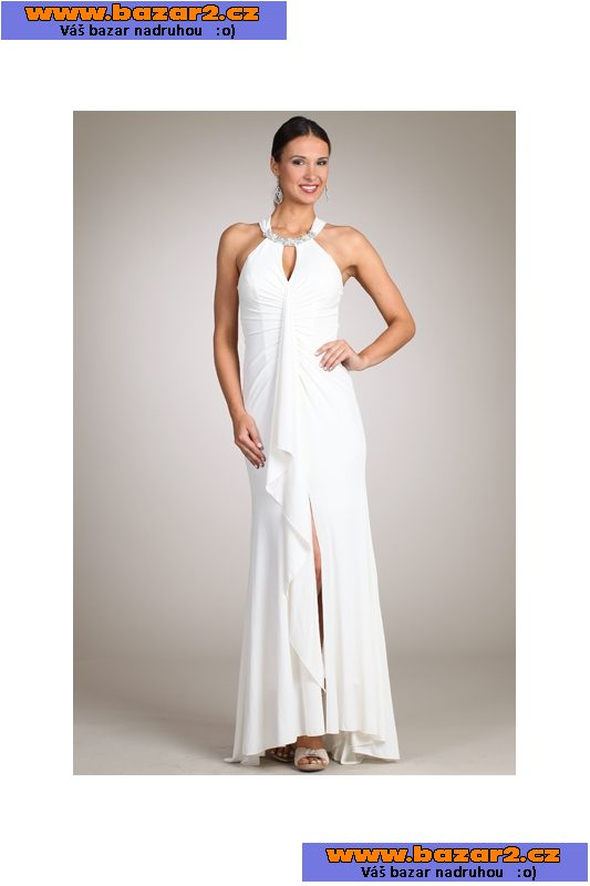 0e5f3d71b676 Luxusní sexy společenské dlouhé bílé šaty na ples