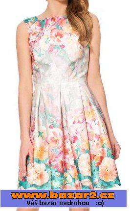 e803cef8af18 Krásné květinové šaty Orsay