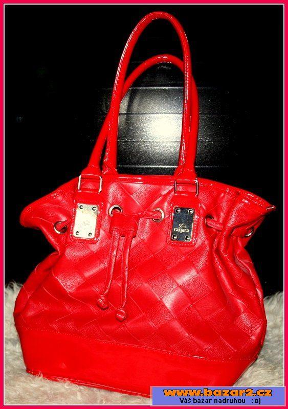 42f4185402 Červená kožená kabelka Carpisa ...
