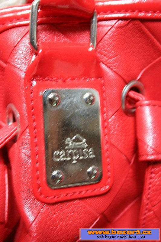 596aabb608 Červená kožená kabelka Carpisa Červená kožená kabelka Carpisa
