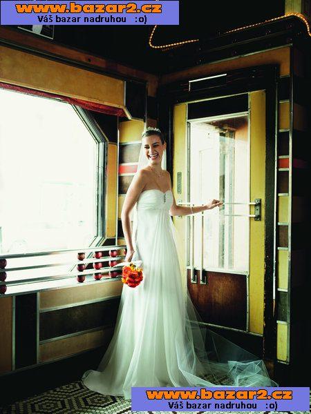 00aedc587a23 Nádherné svatební šaty velmi jednoduché vhodné do teplého počasí. Vel.34-36.