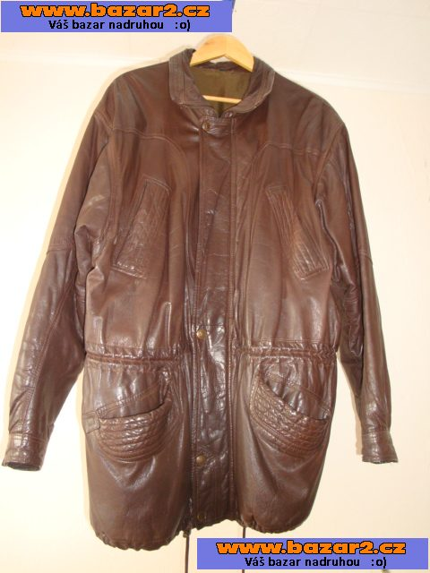 23f8b25cb Prodám čokoládověhnědý pánský kožený kabátek-kvalitní kůže. Vel.52-54 (  přes hrudník 128cm, délka rukávu 61cm). Pův. cena byla 12.000Kč, jelikož je  nošený, ...