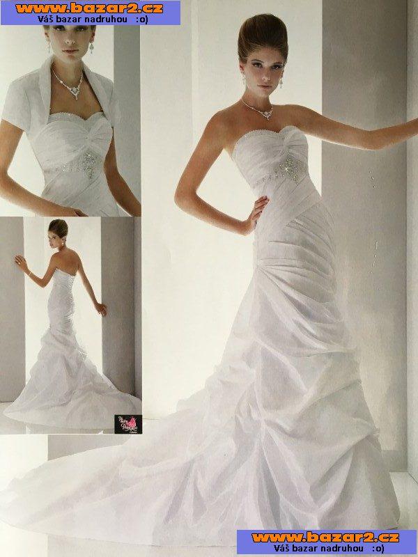 d9ac6dd00737 Prodám luxusní svatební šaty model Myra. Křišťály vyšívaný model z kolekce  americké značky MARY S BRIDAL. Postavu potrhující střih