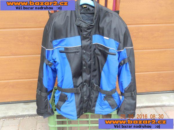 5cccb5a8054 Nová motocyklová bunda s odepínací vložkou na postavu 180 cm germas sport  gms-3xL toledo modro černá