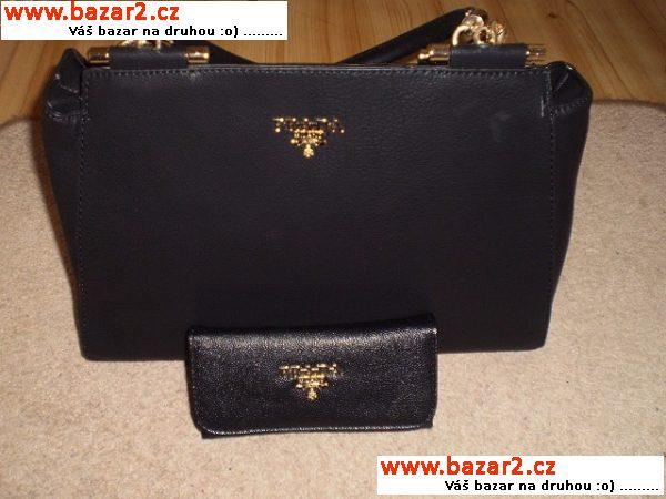 f26473e8b7 Krásný set kabelky a peněženky Prada ihned k odeslání rozměry peneženky  délka-17cm